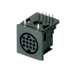 multi pole horizontal socket pcb type