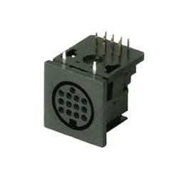 multi pole horizontal sockets pcb quick lock