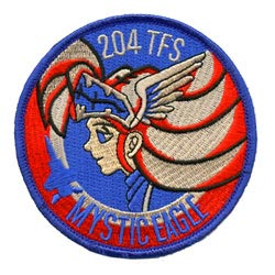 mystic eagle cartoon embroidered patch