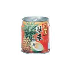 nata de coco with pineapple juice