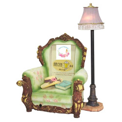 miniature sofa with night lamps and music