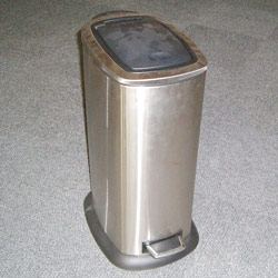 oblong one touch pedal bins