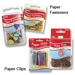 paper fasteners and paper clips