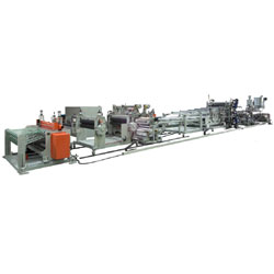 pc corrugated sheet co extrusion line