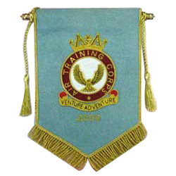 pennants with bullion wires