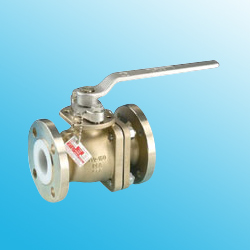 pfa lined 2-way ball valves
