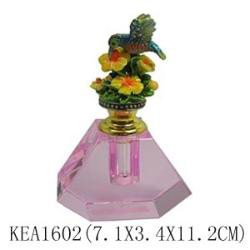 pink crystal perfume bottle