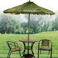 plastic grass thatch umbrellas