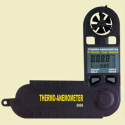 pocket size thermo anemometers