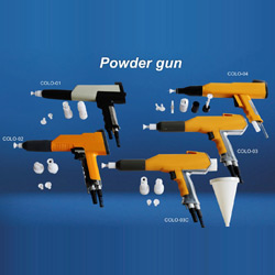 powder spray gun shell