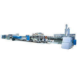 pp hollow profile sheet extrusion line