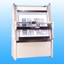 offset plate and silk screen testing stand (printed equipment)