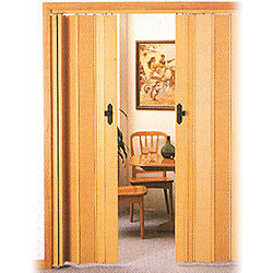 pvc double layer folding door