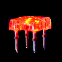 red flat flux light emitting diode