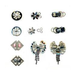 rhinestone button and clasp