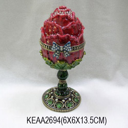rose egg with musical bell