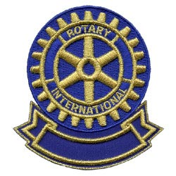 rotary international embroidered patch