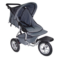 rotated jogger and stroller