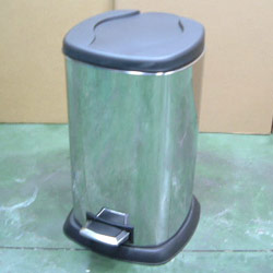 rounded straight square pedal bins