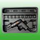 """11PCS 1/4"""" Dr. Heavy Duty Impact Wrench Kit"""