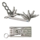 11PCS PORTABLE MULTI FOLDING WRENCH SET