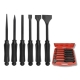 6PCS EXTRA HEAVY DUTY LONG PUNCH & CHISEL SET