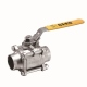 Full port three-piece s13 butt weld manual ball valve