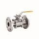 Full Port 3 Pieces Flange End Ball Valve