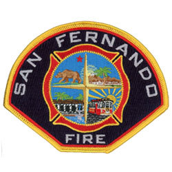 san fernando fire embroidered patches