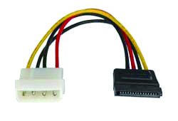 sata power 15p female to 4p hsg