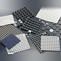 pu rubber silicone self adhesive foot mat
