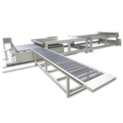 sheet stacking conveyor machine