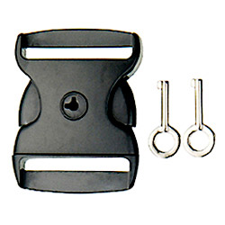 side release buckle and keys
