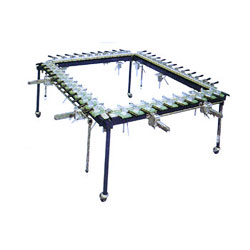 small-medium manual screen stretching unit, manual screen stretching unit, screen, stretching, unit.