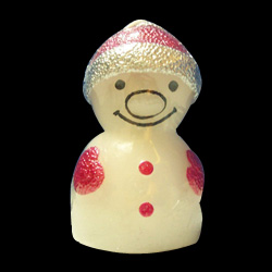 small snow man shape candles