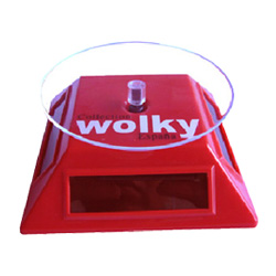 solar cell rotating display stands