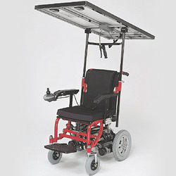 solar power and electric two way use wheelchair