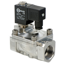 2/2 Way Stainless Steel Pilot Acting Solenoid Valves