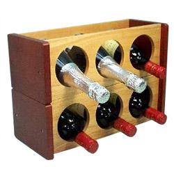 solid wood champagne wine rack