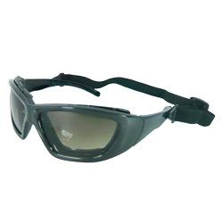 sporting sunglasses