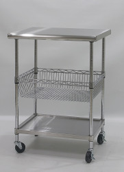 stainless steel top chef work table trolleys