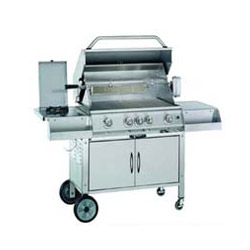 steel hooded gas bbq grills