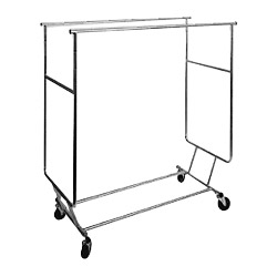 steel rolling display racks