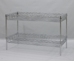steel wired basket racks