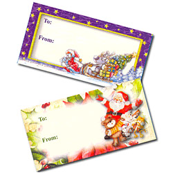 x'mas glitter sticker