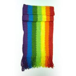straight rainbow scarf
