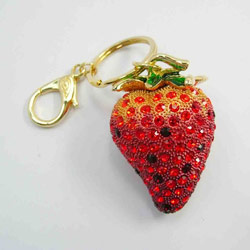 strawberry key rings