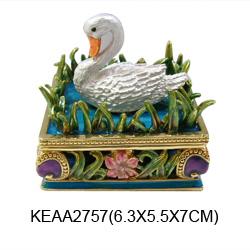 swan jewelry box