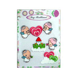 sweet angels embroidered sticker package