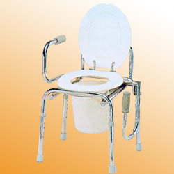 swingdown arm commode chair